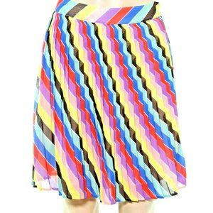 Guess Mini Skirt 4 26'' Accordion Pleated Colorful